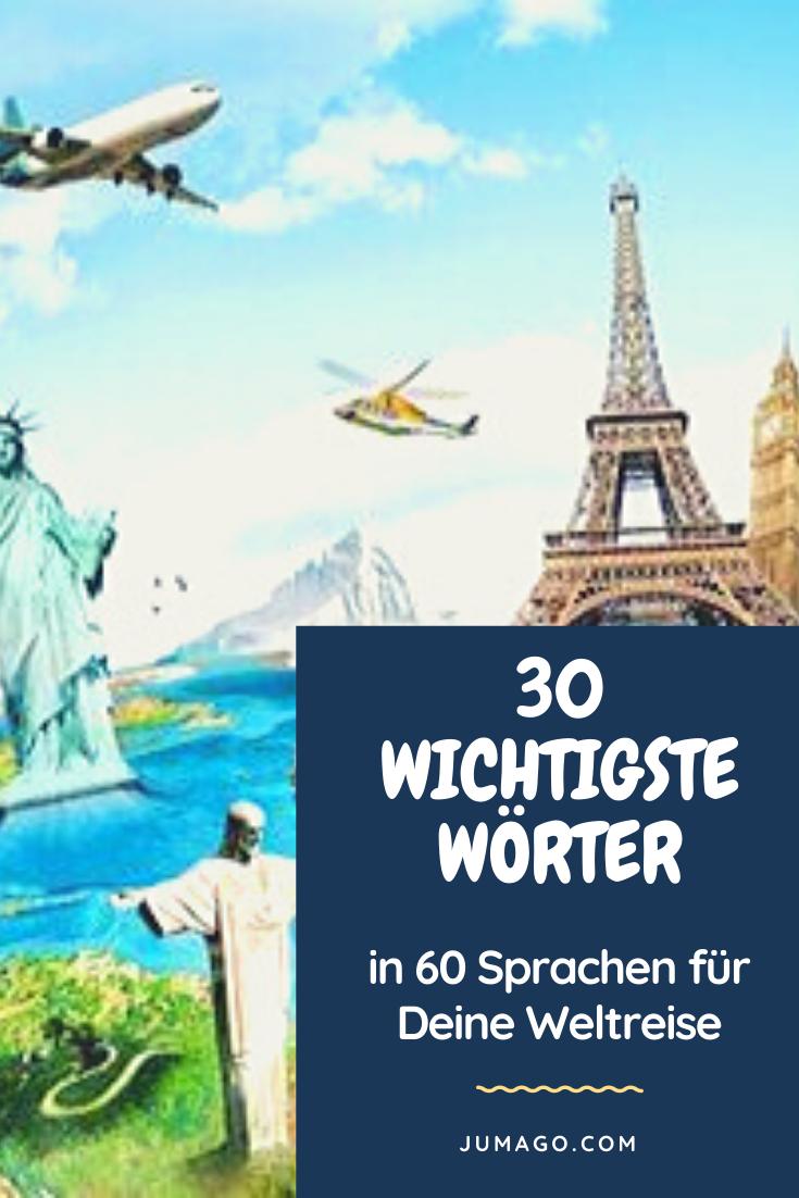 Bist Du auf der Weltreise? Oder planst Du Deine Weltreise? Dann sind diese ersten 30 wichtigsten Wörter in jeder der 60 Landessprachen enorm wichtig. Schau rein, es macht richtig Spaß, auf diese Weise eine Fremdsprache zu lernen!